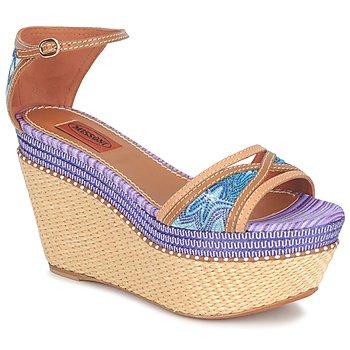 Παπούτσια Γυναίκα Σανδάλια / Πέδιλα Missoni TM26 Μπλέ / Brown