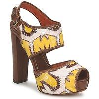 Παπούτσια Γυναίκα Σανδάλια / Πέδιλα Missoni TM81 Brown / Beige / Yellow