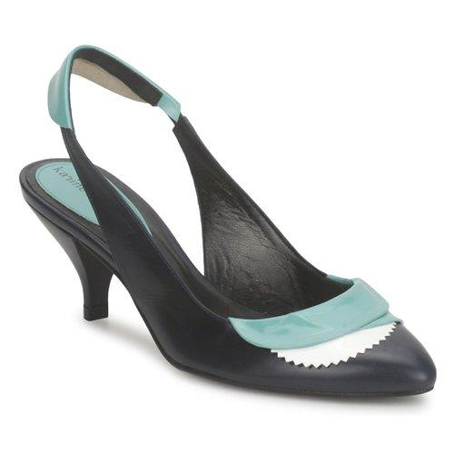 Παπούτσια Γυναίκα Σανδάλια / Πέδιλα Karine Arabian LILA Encre / Άσπρο / Turquoise