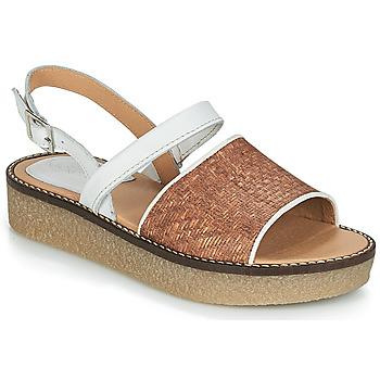 Παπούτσια Γυναίκα Σανδάλια   Πέδιλα Kickers VICTORIETTE Brown   Άσπρο c84766a53fd