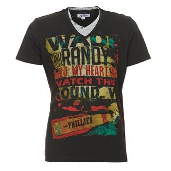 Υφασμάτινα Άνδρας T-shirt με κοντά μανίκια Yurban CLIFF Black