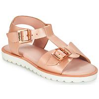Παπούτσια Κορίτσι Σανδάλια / Πέδιλα Kickers ISABELA Ροζ / Μεταλικό