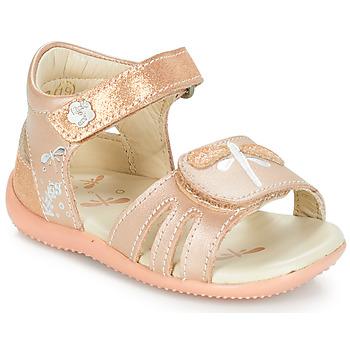 Παπούτσια Κορίτσι Σανδάλια / Πέδιλα Kickers BESHINE Ροζ / Μεταλικό