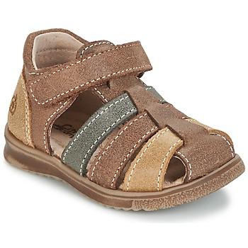 Παπούτσια Αγόρι Σανδάλια / Πέδιλα Citrouille et Compagnie FRINOUI Brown / Multicolore