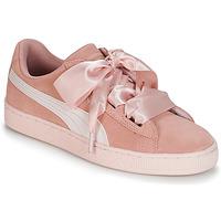 Παπούτσια Κορίτσι Χαμηλά Sneakers Puma JR SUEDE HEART JEWEL.PEACH Ροζ