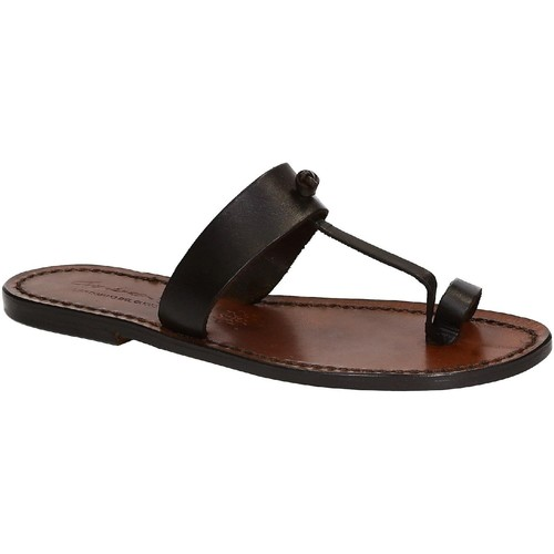 Παπούτσια Γυναίκα Σανδάλια / Πέδιλα Gianluca - L'artigiano Del Cuoio 554 D MORO CUOIO Testa di Moro