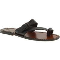 Παπούτσια Γυναίκα Σανδάλια / Πέδιλα Gianluca - L'artigiano Del Cuoio 556 D MORO CUOIO Testa di Moro