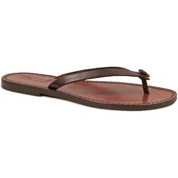 Παπούτσια Γυναίκα Σαγιονάρες Gianluca - L'artigiano Del Cuoio 540 D MORO CUOIO Testa di Moro