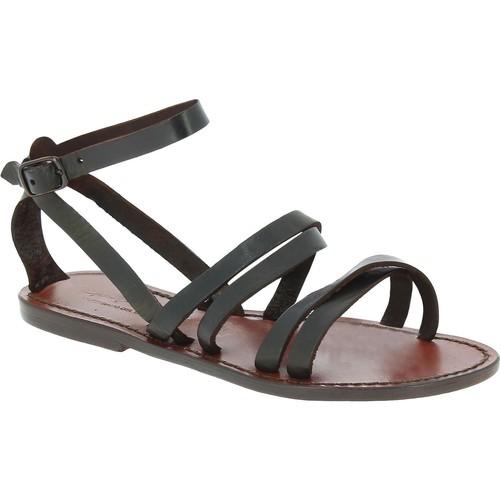 Παπούτσια Γυναίκα Σανδάλια / Πέδιλα Gianluca - L'artigiano Del Cuoio 581 D MORO CUOIO Testa di Moro