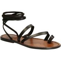 Παπούτσια Γυναίκα Σανδάλια / Πέδιλα Gianluca - L'artigiano Del Cuoio 513 D MORO CUOIO Testa di Moro