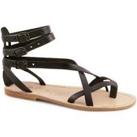 Παπούτσια Γυναίκα Σανδάλια / Πέδιλα Gianluca - L'artigiano Del Cuoio 564 D NERO LGT-CUOIO nero