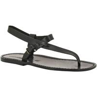 Παπούτσια Άνδρας Σανδάλια / Πέδιλα Gianluca - L'artigiano Del Cuoio 592 U NERO CUOIO nero