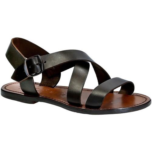 Παπούτσια Γυναίκα Σανδάλια / Πέδιλα Gianluca - L'artigiano Del Cuoio 508X D MORO CUOIO Testa di Moro
