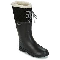 Παπούτσια Γυναίκα Μπότες βροχής Aigle POLKA GIBOULEE Black