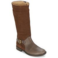 Παπούτσια Κορίτσι Μπότες για την πόλη Garvalin KAISER Y SERRAJE GRABADO Brown