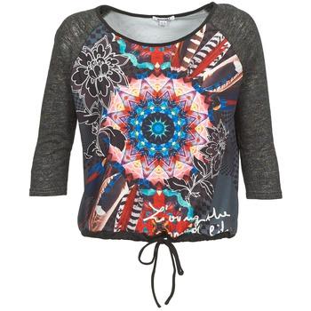 Υφασμάτινα Γυναίκα Μπλουζάκια με μακριά μανίκια Smash ANNABEL 42 Grey / Multicolore