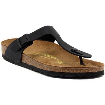 Παπούτσια Γυναίκα Σαγιονάρες Birkenstock GIZEH SCHWARZ CALZ N Multicolore