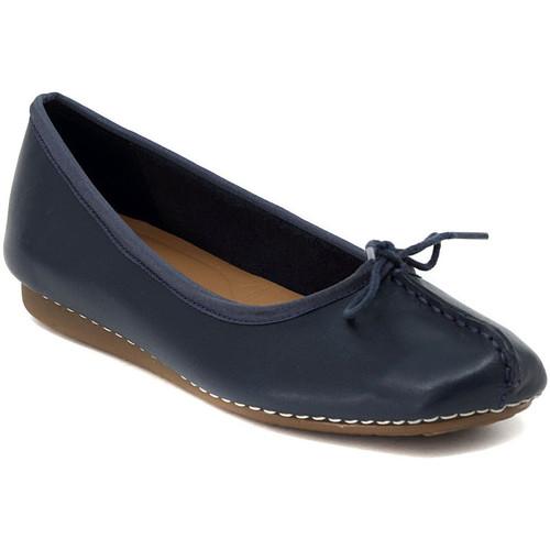 Παπούτσια Γυναίκα Μπαλαρίνες Clarks FRECKLE NAVY Multicolore