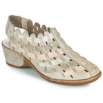 Παπούτσια Γυναίκα Σανδάλια / Πέδιλα Rieker ROBERTO Silver
