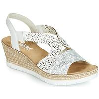 Παπούτσια Γυναίκα Σανδάλια / Πέδιλα Rieker PASCALINE Άσπρο
