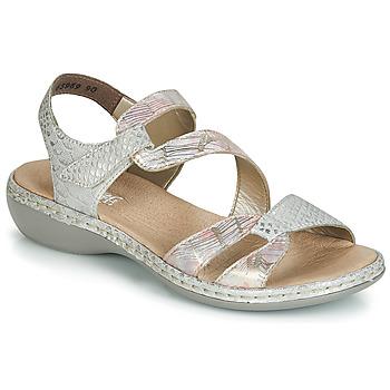 Παπούτσια Γυναίκα Σανδάλια / Πέδιλα Rieker AMAZU Silver