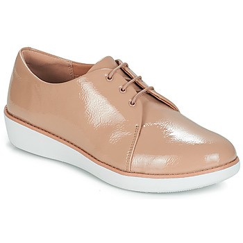Παπούτσια Γυναίκα Derby FitFlop DERBY CRINKLE PATENT Taupe