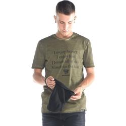Υφασμάτινα Άνδρας Μπλουζάκια με μακριά μανίκια Brokers ΑΝΔΡΙΚΟ T-SHIRT ΧΑΚΙ