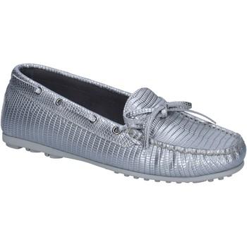 Παπούτσια Γυναίκα Μοκασσίνια K852 & Son mocassini argento pelle BT934 Argento