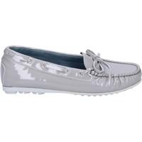 Παπούτσια Γυναίκα Μοκασσίνια K852 & Son mocassini grigio vernice BT967 Grigio