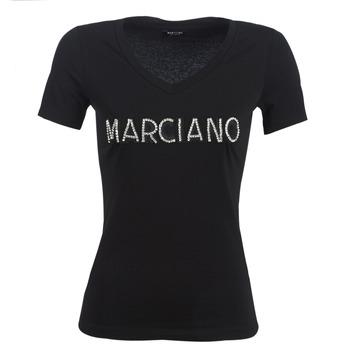 Υφασμάτινα Γυναίκα T-shirt με κοντά μανίκια Marciano LOGO PATCH CRYSTAL Black