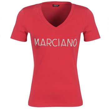Υφασμάτινα Γυναίκα T-shirt με κοντά μανίκια Marciano LOGO PATCH CRYSTAL Red
