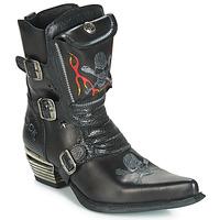 Παπούτσια Άνδρας Μπότες για την πόλη New Rock M-WST024-S3 Black