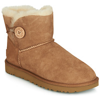 Παπούτσια Γυναίκα Μπότες UGG MINI BAILEY BUTTON II Camel