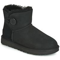 Παπούτσια Γυναίκα Μπότες UGG MINI BAILEY BUTTON II Black