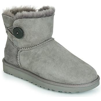 Παπούτσια Γυναίκα Μπότες UGG MINI BAILEY BUTTON II Grey