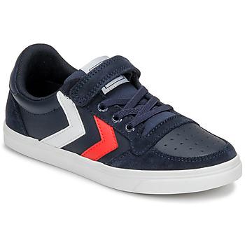 Παπούτσια Παιδί Χαμηλά Sneakers Hummel SLIMMER STADIL LEATHER LOW JR Μπλέ