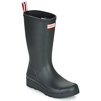 Παπούτσια Γυναίκα Μπότες βροχής Hunter ORIGINAL PLAY BOOT TALL Black