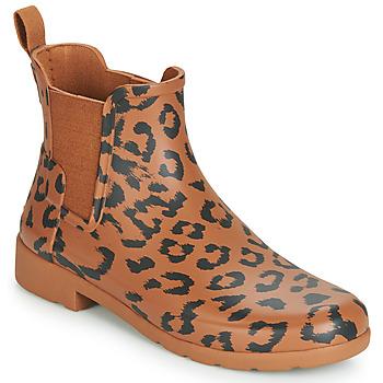 Παπούτσια Γυναίκα Μπότες βροχής Hunter ORG REFINED CHELSEA HYBRD PRNT Leopard