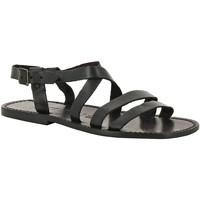 Παπούτσια Άνδρας Σανδάλια / Πέδιλα Gianluca - L'artigiano Del Cuoio 531 U NERO CUOIO nero