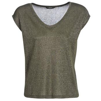 T-shirt με κοντά μανίκια Only ONLSILVERY Σύνθεση: Matière synthétiques,Viscose / Lyocell / Modal,Πολυεστέρας,Βισκόζη,μεταλλιζέ νήματα