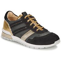 Παπούτσια Κορίτσι Χαμηλά Sneakers Catimini CAMELINE Black / Gold