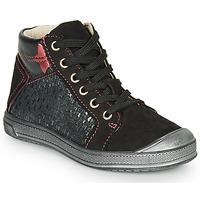 Παπούτσια Κορίτσι Ψηλά Sneakers GBB ORENGETTE Black / Silver