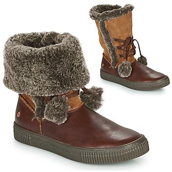 Παπούτσια Κορίτσι Μπότες για την πόλη GBB NOUSTIK Brown