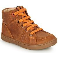 Παπούτσια Αγόρι Ψηλά Sneakers GBB ANGELITO Cognac / Orange