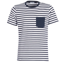 Υφασμάτινα Άνδρας T-shirt με κοντά μανίκια Casual Attitude KARALE Marine / Άσπρο