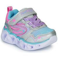 Παπούτσια Κορίτσι Χαμηλά Sneakers Skechers HEART LIGHTS Silver / Ροζ / Led