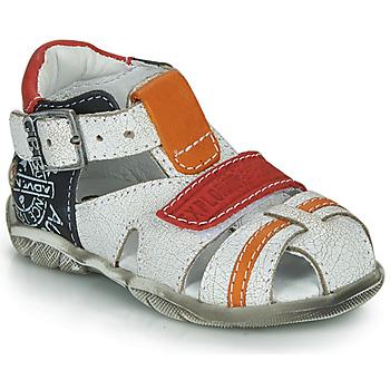 Παπούτσια Αγόρι Σανδάλια / Πέδιλα GBB MELVIL Άσπρο / Red / Orange
