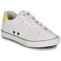 Παπούτσια Αγόρι Χαμηλά Sneakers Ikks WILLIAM Άσπρο / Yellow