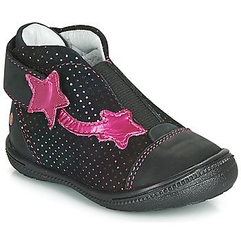 Παπούτσια Κορίτσι Μπότες GBB NOLWENN Black / Ροζ