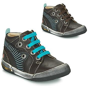 Παπούτσια Αγόρι Ψηλά Sneakers GBB NOAH Brown / Μπλέ